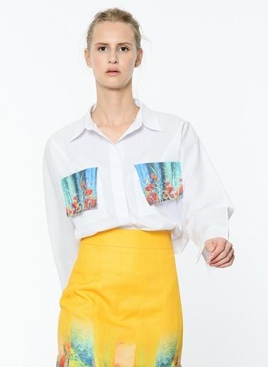 Cep Detaylı Uzun Kollu Gömlek-Soie Design